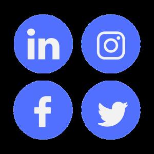 iconos de linkedin instagram facebook y twitter