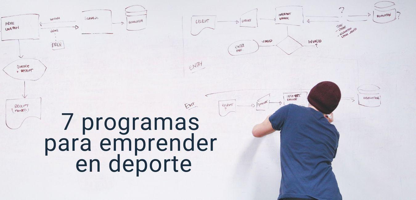 explicar programas de soporte a startups para emprender en deporte